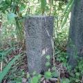 神戸市境界石No.65 鵯越墓園西側の尾根筋にて。