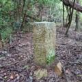 神戸市境界石No.78 再度山山頂の北側にて。蛇ヶ谷右岸から修法ヶ原池まで。